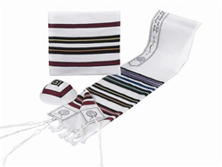 Bnei Or Multicolored Wool Tallit Set