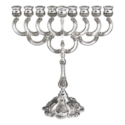 Silverplate Ornate Menorah