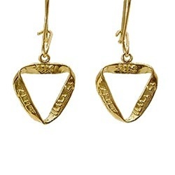 14K Solid Gold Ani Ledodi Mobius Earrings